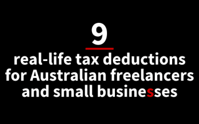 9 real-life tax deductions for Australian freelancers and small businesses